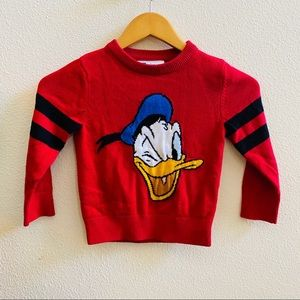 BABY GAP X DISNEY Donald Duck sweater 4t red knit